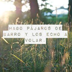 """-- #LyricArt for """"Pajaros De Barro"""" by Manolo Garcia"""