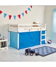 £24.99 Blue Tent for Single Mid Sleeper Bed Frame.