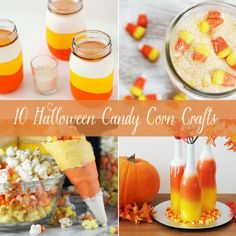 10 Halloween Candy Corn Crafts