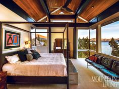 Amazing sense of openness via floor-to-ceiling windows and minimal structure. Crags of Lake Tahoe