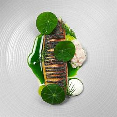 Food Art From The CookNiche IG: Linking the Culinary World Fish Recipes, Gourmet Recipes, Recipes Dinner, Food Plating Techniques, Mackerel Recipes, Foodblogger, Molecular Gastronomy, Cuisines Design, Fish Dishes