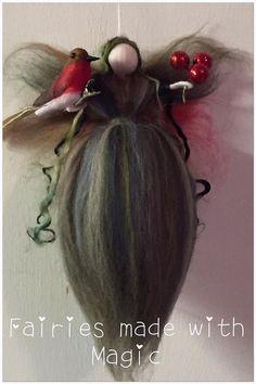 Robin Needle Felted Fairy Waldorf Inspired Fairy