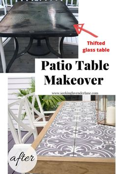 DIY Tile Tabletop - From Thrifted glass outdated table, to a DIY masterpiece! Using Merola tiles and a slipcovered method to the top of this table, it went from blah to a show stopper! Source by SLavenderLane - Budget Patio, Diy On A Budget, Outdoor Patio Ideas On A Budget Diy, Diy Outdoor Table, Patio Table Top Ideas, Outdoor Patio Tables, Cheap Patio Ideas, Cool Backyard Ideas, Diy Table Top