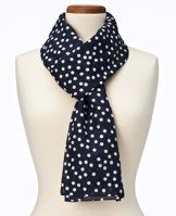 """Timeless Dot Print Cotton/Silk Scarf - Our timeless polka dot print scarf provides a delightful dose of spot-on charm to top off your favorite look. 30"""" x 70""""."""