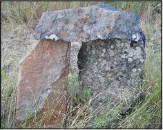 Mini Stonehenge in a friend's garden