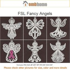 FSL Fancy Angels Free Standing Lace Machine Embroidery by embhome