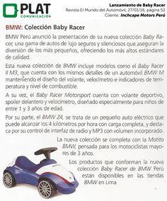 Inchcape Motors: Lanzamiento de Baby Racer BMW en la revista El Mundo del Automóvil de Perú (27/01/16)