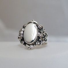 Victorian Scroll Poison Ring - 925 Sterling Silver - Victorian Style Poison Ring #FashionJunkie4Life #Band