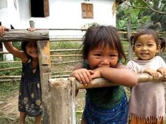 Meet Nit, Nut and Tamund, some of our first PoP students in Pha Theung, Laos!