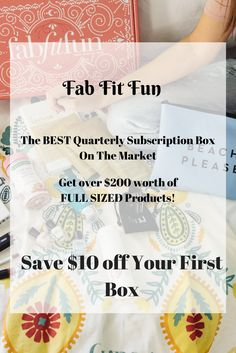 (AD) Get $10 off your First Fab Fit Fun Box with this link and code SPRINGTIME. That's over $200 worth of FULL SIZED Products for $40! A Deal You Can't pass up!