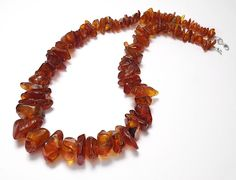 925 STERLING SILVER AMBER PIECES NECKLACE JEWELLERY  | eBay