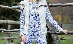 Iné oblečenie - Folky blue & Folky white  - 6059696_