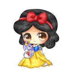 A Berry so sweet - Snow White by KawaiiiJackiiie on DeviantArt Cute Disney Drawings, Disney Princess Drawings, Disney Princess Art, Kawaii Drawings, Disney Fan Art, Cute Drawings, Kawaii Disney, Chibi Disney, Baby Disney