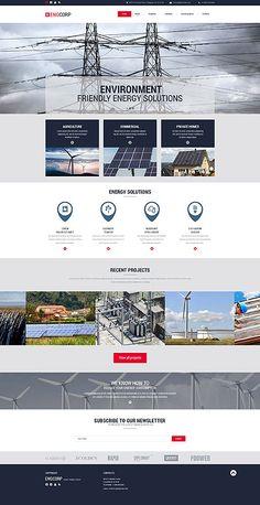 Template 55422 - Eng Corp  Responsive Website Template