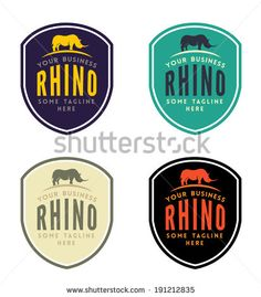 Rhinoceros Emblem for Your Business