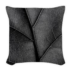 Monotone Leave with detail viens Woven Throw Pillo> Black and white leaf veins> Victory Ink Tshirts and Gifts