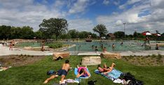 """Natural"" swimming pools are common in Europe, but the U.S. has its first public version at Webber Park in Minneapolis."