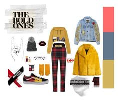 """Casual Grunge"" by grace-richandi on Polyvore featuring Fila, Burberry, Diane Von Furstenberg, Vans, Eugenia Kim, Hermès, Moschino, Lime Crime and The Body Shop"