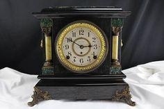 Antique Seth Thomas Adamantine Mantel Clock Movement 4 1/2