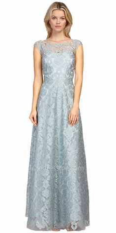Bateau Lace Gown by Kay Unger