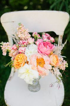 pink orange gold wedding flowers, coral charm peony bouquet, gold tipped flowers, studio fleurette