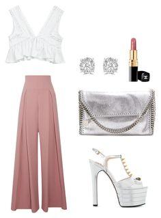 """Chic outfit"" by kelda-mbyeti on Polyvore featuring moda, Emilia Wickstead, Gucci, STELLA McCARTNEY e Effy Jewelry"
