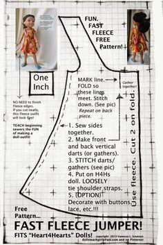 ARTE COM QUIANE - Paps,Moldes,E.V.A,Feltro,Costuras,Fofuchas 3D: Molde vestido para boneca tipo Poly