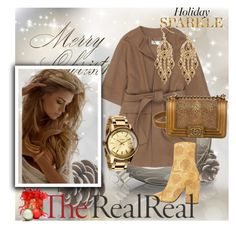 """Holiday Sparkle With The RealReal: Contest Entry"" by suadapolyvore ❤ liked on Polyvore featuring STELLA McCARTNEY, Chanel, Dries Van Noten, Nixon and Palm Beach Jewelry"