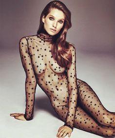 Sheer star catsuit #lingerie