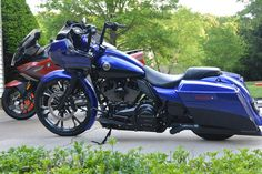 Learn more about this used blue 2012 Harley-Davidson® FLTRXSE CVO™ Road Glide® Custom motorcycle for sale on ChopperExchange. It has miles and it's located in Fallston, Maryland. Harley Davidson Custom Bike, Classic Harley Davidson, Harley Davidson Street Glide, Harley Davidson Sportster, Custom Harleys, Custom Motorcycles, Custom Baggers, Custom Bikes, Cvo Road Glide