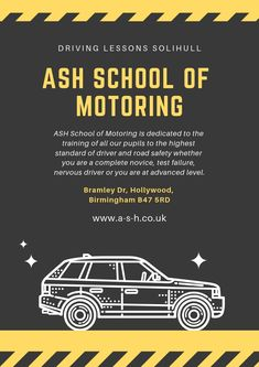 ASH School of Motoring is dedicated to the training of all our pupils to the highest standard of driver and road safety whether you are a complete novice, test failure, nervous driver or you are at advanced level. Learning To Drive, High Standards, Birmingham, Ash, Safety, Training, School, Gray, Security Guard