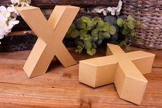 """Γράμμα """"X"""" Papier Mache  Γράμμα """"X"""" papier mache.Xρησιμοποιήστε τα ως έχουν, ή διακοσμήστε τα με όποια τεχνική θέλετε. Κολλήστε Washi Tapes, διακοσμήστε με σφραγίδες ή ζωγραφίστε τα, συνδυάστε μικρά ξύλινα ή μεταλλικά διακοσμητικά στοιχεία, κορδέλες, κορδόνια και ότι άλλο μπορείτε να φανταστείτε. Ιδανικά και ως βάση για Ντεκουπάζ. Washi, Gift Wrapping, Gifts, Gift Wrapping Paper, Presents, Wrapping Gifts, Gift Packaging, Gifs, Wrapping"""