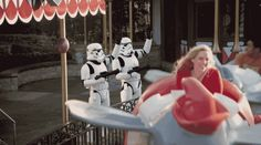 This intergalactic evildoer enjoying a quaint day out at Disney. | 15 Of The Most Powerfully Cool Gifs