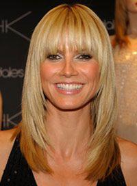 Heidi Klum: Your Hairstyles in Transition- Heidi Klum's Hairstyles A phenomenon . - Heidi Klum: Your Hairstyles in Transition- Heidi Klum's Hairstyles A phenomenon similar to Jennif - Oval Face Hairstyles, 2015 Hairstyles, Straight Hairstyles, Cool Hairstyles, Long Hairstyles With Bangs, Hairstyles Haircuts, Hairstyle Ideas, Bob Hairstyle, Hair Ideas