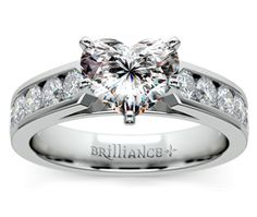 Heart Channel Diamond Engagement Ring in White Gold  http://www.brilliance.com/engagement-rings/channel-diamond-ring-white-gold-3/4-ctw