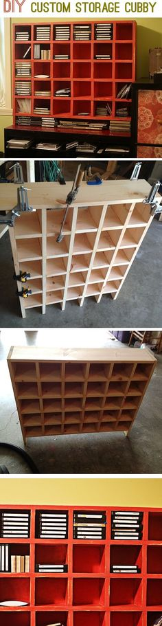 Build a custom storage cubby unit for your craft supplies by gilda