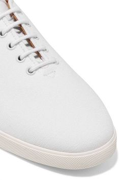 The Row - Dean Embroidered Canvas Sneakers - White - IT39.5