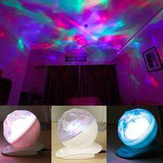 BeesClover Relax Projector Pot Music Input, aurora Light, aurora Lamp, Color Diamond music Projection - Amazon.com