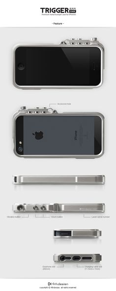 4thdesign, TRIGGER case, Premium metal bumper case for iPhone5 $99