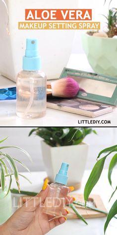 Natural Aloe Vera Makeup Setting Spray D I Y Natural Products Homemade Skin Care, Diy Skin Care, Skin Care Tips, Skin Tips, Belleza Diy, Tips Belleza, Beauty Care, Beauty Skin, Diy Beauty