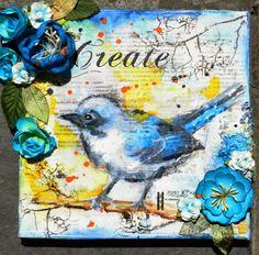 Mixed media canvas tutorial eye - Solange Marques Plus Mixed Media Cards, Mixed Media Journal, Mixed Media Collage, Altered Canvas, Altered Art, Mixed Media Tutorials, Bird Artwork, Art Journal Inspiration, Inspiration Cards