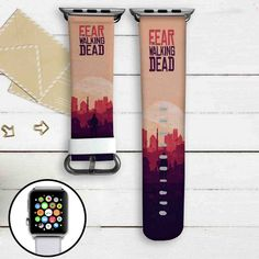 Fear The Walking Dead Custom Apple Watch Band Leather Strap Wrist Band Replacement