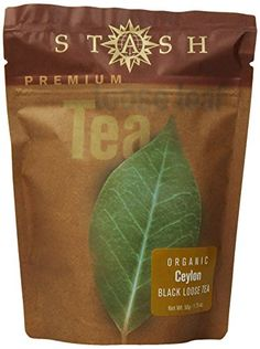 Stash Premium Organic Ceylon Loose Leaf Tea 175 Ounce Pouch >>> Find out more about the great product at the image link. Tea Strainer, Tea Infuser, Organic Herbal Tea, Herbal Teas, Stash Tea Company, Loose Leaf Tea, Drinking Tea, Herbalism, Tea Pots