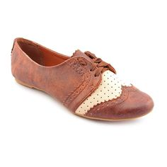 Not Rated Women's Tan 'Motivation' Synthetic Dress Shoes | Overstock.com Shopping - Great Deals on Not Rated Oxfords