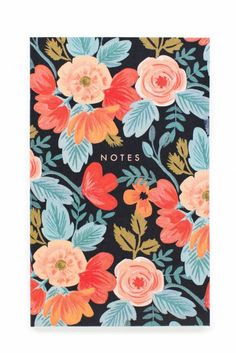 This dreamy floral pocket notepad from Rifle Paper Co. features sixty blank tear-away sheets and a small pocket great for tickets or receipts. Pocket Notebook, Notebook Ideas, Stickers Kawaii, Rifle Paper Company, Paper Pocket, Illustration Blume, Guache, Motif Floral, Ideas