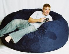 Thinking of making my own bean bag chairs I like this design