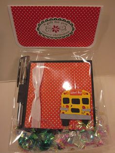 Addicted to Cardmaking: Gifts for bus drivers Gifts For Bus Drivers, Cardmaking, Bus Driver Appreciation, Post It Note Holders, Lunch Box, Hershey Kisses, Addiction, Bento Box, Card Making