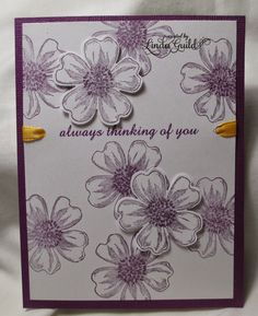 Nothin' Fancy--inspired by a card seen on Pinterest  Flower Shop Stampin Up stamp, Pansy punch