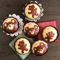 くまのデコ蒸しケーキ レシピブログ