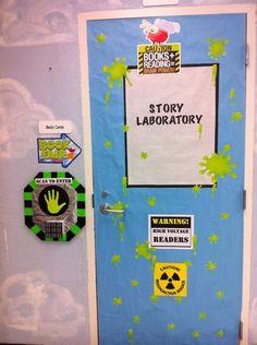 Story Laboratory library door